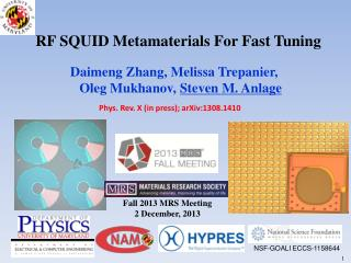 RF SQUID Metamaterials For Fast Tuning