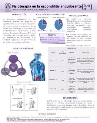 Fisioterapia en la espondilitis  anquilosante