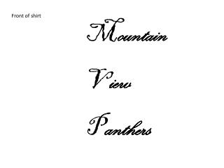 M ountain V iew P anthers
