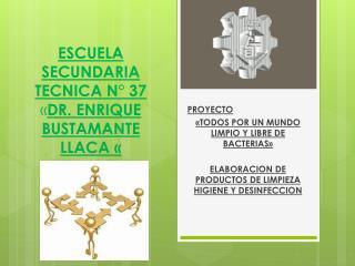 ESCUELA SECUNDARIA TECNICA N° 37 « DR.  ENRIQUE BUSTAMANTE LLACA  «