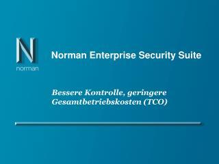 Norman Enterprise Security Suite
