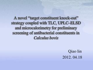 Qiao lin 2012. 04.18