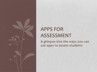 Apps for Assessment