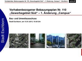 Bau- und Umweltausschuss Stadt Eschborn,  am  15.01.2014, 19:30  Uhr