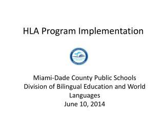 HLA Program Implementation