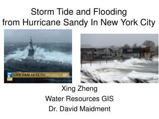 Storm Tide and Flooding  from Hurricane Sandy In New York City