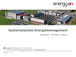 Systematisches Energiemanagement