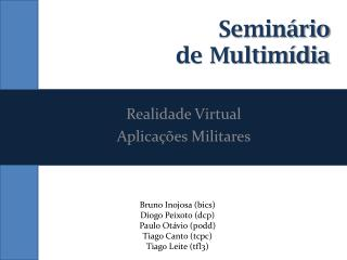Seminário  de Multimídia