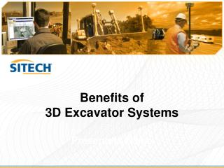 Benefits of  3D Excavator Systems