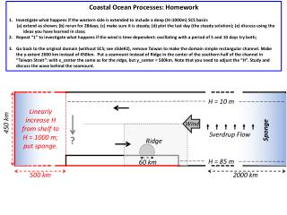 Coastal Ocean Processes: Homework