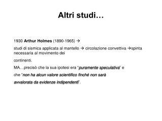 Altri studi…