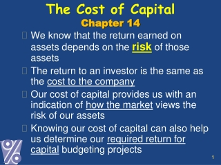 The Cost of Capital