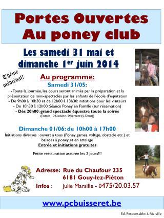 Portes Ouvertes Au poney club