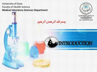 University  of Gaza Faculty of Health Science Medical laboratory Sciences Department