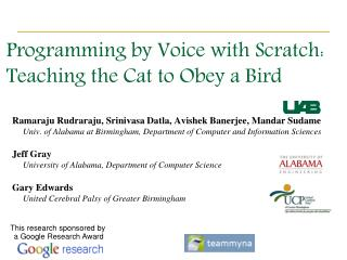 Programming by Voice with Scratch: Teaching the Cat to Obey a Bird