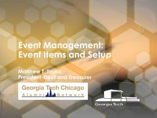 Event Management: Event Items and Setup