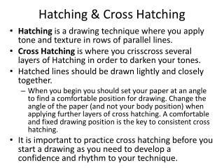 Hatching & Cross Hatching