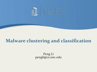 Malware clustering and classification