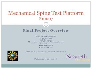 Mechanical Spine Test Platform P10007