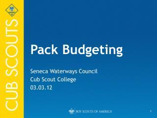 Pack Budgeting
