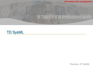 TD  SysML