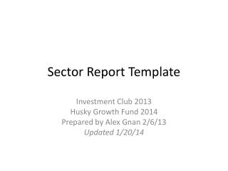 Sector Report Template