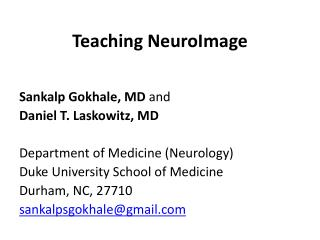Teaching  NeuroImage
