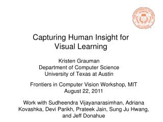 Capturing Human Insight for Visual Learning