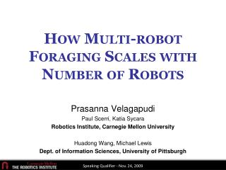 How Multi-robot Foraging Scales with Number of Robots