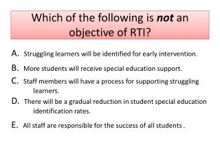 RtI True or False?