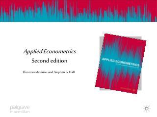 Applied Econometrics Second edition