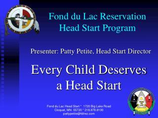 Fond du Lac Reservation Head Start Program