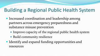Building a Regional Public Health System