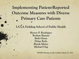 Implementing Patient-Reported Outcome Measures with Diverse Primary Care Patients