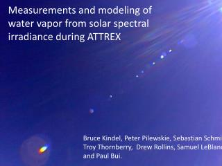 Measurements and modeling of water vapor from solar spectral irradiance during ATTREX