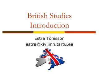 British Studies Introduction