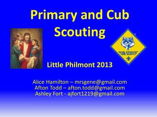 Primary and Cub Scouting