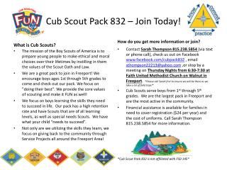 Cub Scout Pack 832 – Join Today!