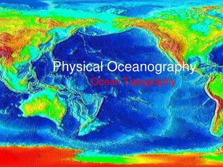 Physical Oceanography