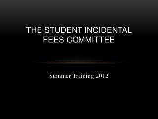 Summer Training 2012