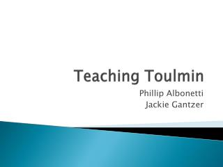 Teaching Toulmin