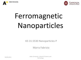 Ferromagnetic Nanoparticles