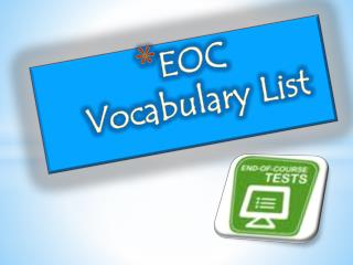 EOC  Vocabulary List