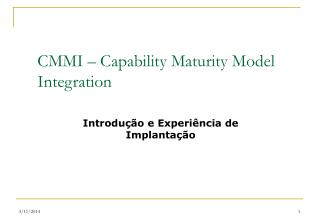 CMMI   Capability Maturity Model Integration