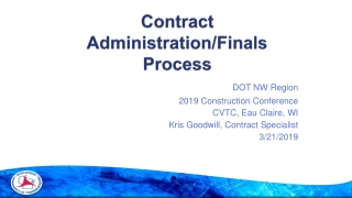 Contract Compliance and Closeout: