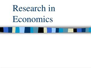 Research in Economics Research Skills