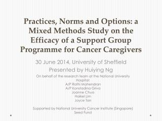 30 June 2014, University of Sheffield Presented by  Huiying  Ng