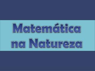 Matemática na Natureza