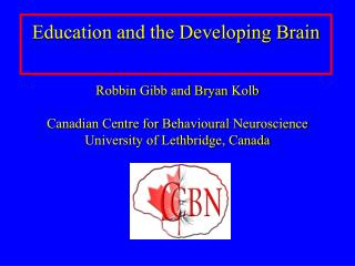 Education and the Developing Brain