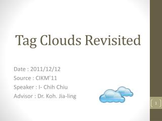 Tag Clouds Revisited